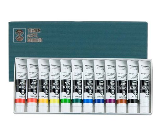 Acryla Set - Turner Acrylic Paint Set Artist Acryl Gouache - Super Concentrated Vibrant Acrylics, Fast Drying, Velvety Matte Finish - [Set of 12 | 20 ml Tubes]
