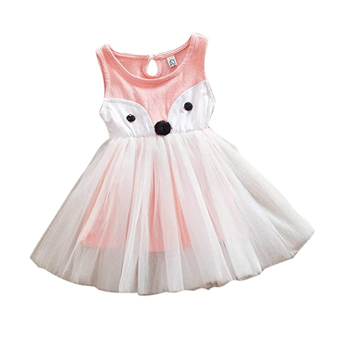 677949b4aae E-WEN Funky Pink Sleeveless Dress  Amazon.in  Clothing   Accessories