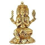 Gangesindia Lord Kartikeya Seated on Lotus Brass Statue