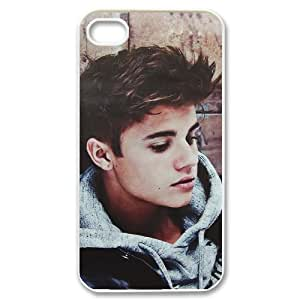 Iphone 4,4S 2D Customized Phone Back Case with Justin Bieber Image