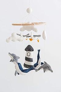 Nautical Mobile, Sailboat Mobile, Seagull Mobile, Ocean Mobile, Whale Mobile, Ocean Theme Nursery