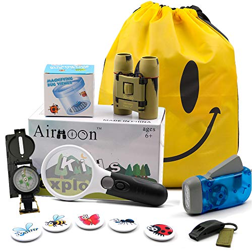 Airmoon Kid Explorer Kit, Outdoor Adventure Set, Pack of 12, for Explorer Backyard, Famliy Hiking Trip, Camping, Gift Box by Airmoon