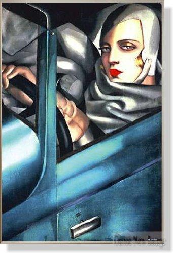 タマラドレンピッカ Autoportrait 1925 【ポスター+フレーム】91x61cm ステン B003PAWDGG ステン ステン
