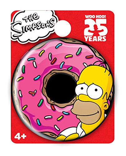 Simpsons The Homer Donut Single Button Pin Action Figure