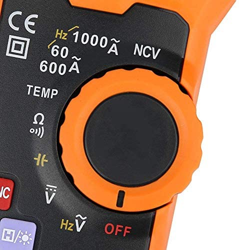 LIZANAN Digital Digital Clamp Meter Multimeter,PEAKMETER PM2028A/B 6000 Counts Digital Clamp Multimeter NCV Hz Ohm Capacitance Temp Meter Multimeter