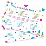 How Sweet It Is Baby Shower Game Cards - Set of 25 - Gender Reveal Party