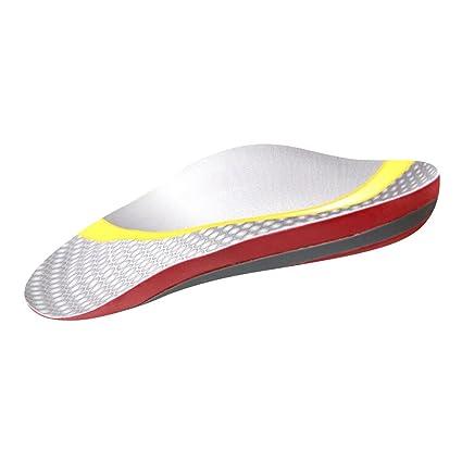 MagiDeal Sottopiede Ortopedico Cuscino Soletta Piedi Attrezzatura Per Scarpe Sandali Silicone Antisciovolo - bianca, S