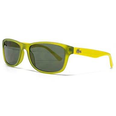 76e3a8489034 Lacoste Kids Childrens Wayfarer Sunglasses in Green & Yellow L3601S 315 50:  Amazon.co.uk: Clothing