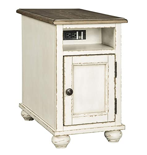 Signature Design by Ashley Realyn Chair Side End Table White Brown
