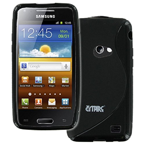(EMPIRE Samsung Galaxy Beam I8530 Poly Skin Case Cover (Black S-Shape) [EMPIRE Packaging])
