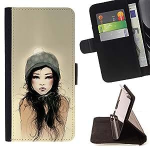 """For Sony Xperia M5 E5603 E5606 E5653,S-type Papá Mujer Sun Acuarela"""" - Dibujo PU billetera de cuero Funda Case Caso de la piel de la bolsa protectora"""