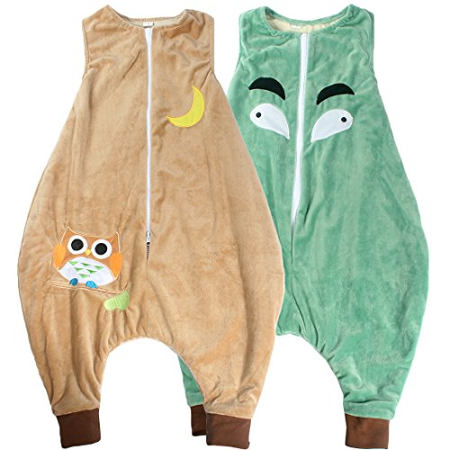 KF Baby Flannel Walker Sleep Bag Wearable Blanket for Kids, Set of 2 [S]