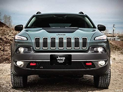 Stainless Steel License Plate Cover for Jeep,Jeep Logo License Plate Frame fit Jeep Heavy-Duty and Sturdy Jeep License Plate Cover not Ordinary Thin Iron
