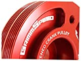 GrimmSpeed 095015R Lightweight Crank Pulley-Red