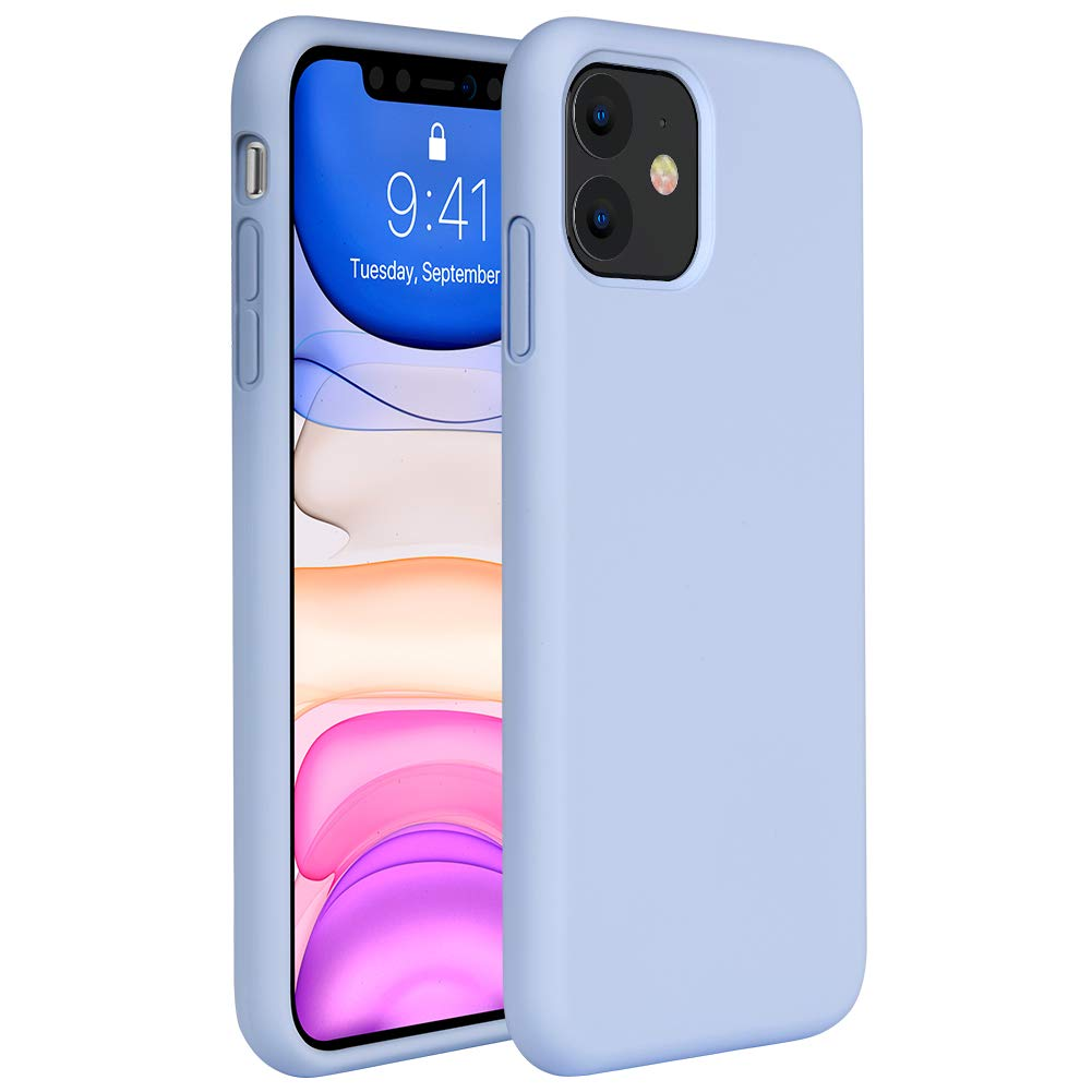 Miracase Liquid Silicone Case Compatible with iPhone 11 6.1 inch(2019), Gel  Rubber Full Body Protection Shockproof Cover Case Drop Protection Case