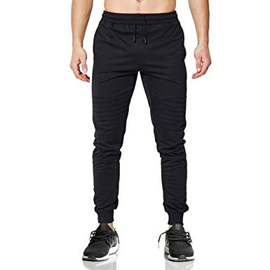 03f4cd39596e Amazon.com: TOLOER Mens Jogger Track Pants - Casual Gym Running Pants  Comfortable Slim Fit Tapered Sweat Pants with Pockets: Clothing
