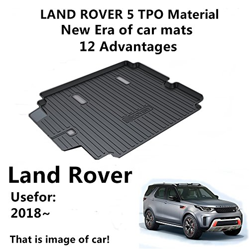 AUNAZZ Trunk Mat Cover For LAND ROVER Discovery 5 2018 Years 5seat Rubber Rear Trunk Cargo Liner Trunk Tray Floor Mat Cover 1 PCS - Land Rover Discovery Rubber
