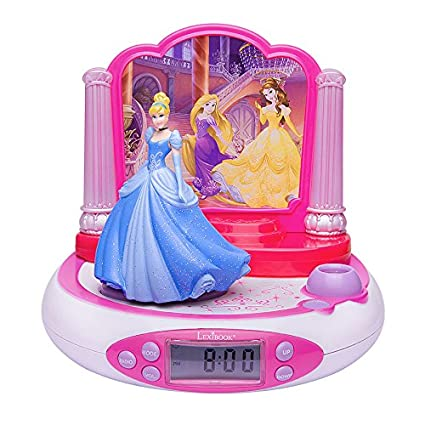 Amazon.com: LEXiBOOK RP510DP Disney Princess Projector Radio Alarm Clock: Home Audio & Theater