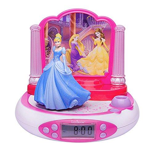 LEXIBOOK RP510DP - Radio Réveil Projecteur Disney Princesse