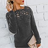 Women Fluffy Sweater Pullover Blouse Long Sleeve