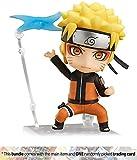 Naruto Uzumaki: ~3.9'' Naruto Shippuden x Nendoroid Mini Action Figure + 1 Anime Themed Trading Card Bundle
