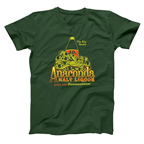 Funny Threads Outlet Anaconda Malt Liquor Black Dynamite Mens Shirt X-Large Forest Green