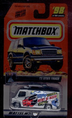 Matchbox 1999-98 of 100 Series 20 on the Road Again Tv News Truck 1:64 - News Mall
