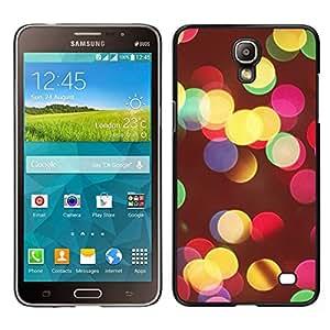 Caucho caso de Shell duro de la cubierta de accesorios de protección BY RAYDREAMMM - Samsung Galaxy Mega 2 - Colores Vivos Night City Desenfoque Amarillo