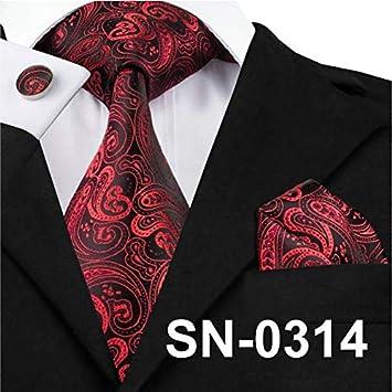 Men Tie 100/% Silk Ties Gravata Necktie Hanky Cufflink Sets For Wedding Party