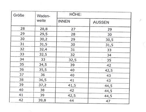 EU 42 botas Botas montar montar Botas de montar con Amesbichler de PVC de espuela mujer para Tamaño de wqAaxXT