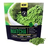 Gourmet Food : Jade Leaf Matcha Green Tea Powder - USDA Organic, Authentic Japanese Origin - Classic Culinary Grade (Smoothies, Lattes, Baking, Recipes) - Antioxidants, Energy [30g Starter Size]