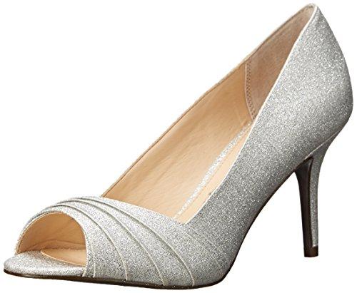 Nina Peep Toe Heels (Nina Women's Vesta YF Dress Pump, Silver, 8.5 M US)