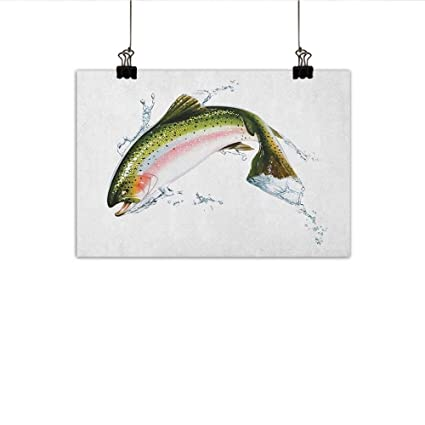 Amazon Com Littletonhome Fish Abstract Painting Salmon