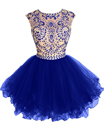 Missdressy - Robe - Dos ouvert - Femme -  Bleu - 36