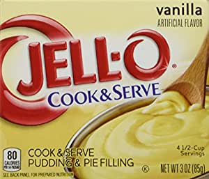 Jell-O Vanilla Cook & Serve Pudding, 3 oz (85g) 4-Pack