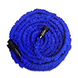 Expandable Garden Hose,25 ft Super Strong Garden Hose STRONG Lightweight Coil Flex, Collapsible Flexible Expanding two layer Latex for Car Wash Cleaning Watering Lawn Garden Plants Blue