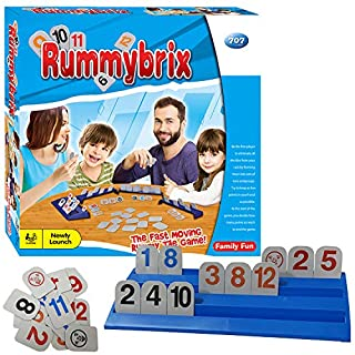 Mengting Rummy Tiles Game - Travel Games Logical Intelligence Toy Rummy Family Board Game for Adults Teens