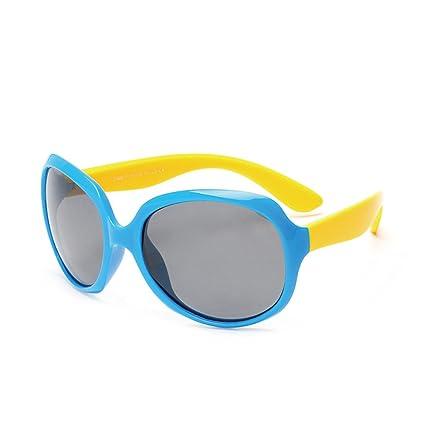 Niños Oversized Personality Boys and Girls Gafas de Sol polarizadas Flexibles con protección UV para niños