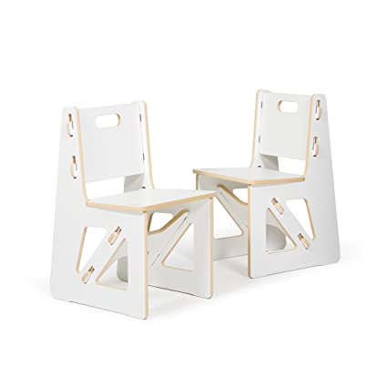 Sprout Kids Chairs, White, 2 Pack