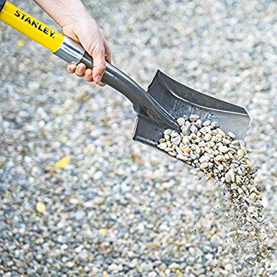 Stanley Garden BDS8088 Mini D-Handle Square Head Shovel, Yellow : Garden & Outdoor