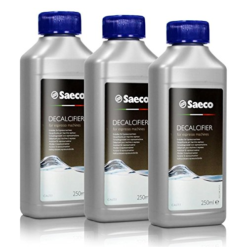 Saeco Maintenance Kit - Saeco Decalcifier for Espresso Coffee Machines, 250 ml, Pack of 3