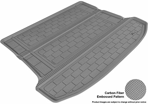 3D MAXpider M1CD0021301 Cargo Custom Fit All-Weather Floor Mat for Select Cadillac SRX Models - Kagu Rubber (Gray) ()