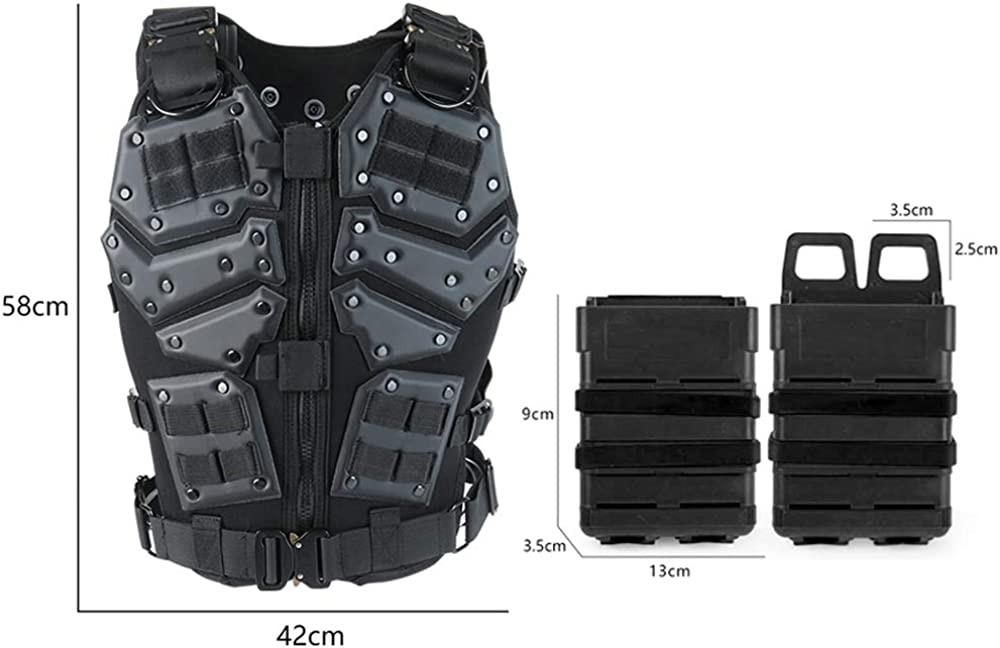 Camo Tactical Vest Outdoor Equipment or Cosplay Game Counter Strike Jacket Adjustable Plate Holder Jacket for Armed Force