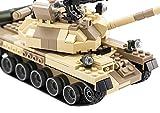 BXT DIY Educational Assemble War Army T-62 MBT Battle Tank Model 272pcs 3D Construction Building Bricks Blocks Sets Compatible With Minifigures Kids Toy Birthday Christmas Gift