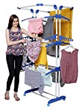 PARASNATH Prime Stainless Steel 3 Poll Clothes Drying Stand (Multi-Color)