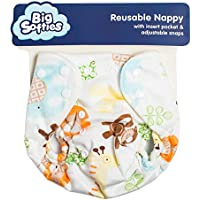 Big Softies Reusable Printed Unisex Nappy or Training Pant, White