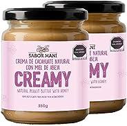 2-PACK SABOR MANÍ - Crema de cacahuate natural con miel Creamy 350g C/U