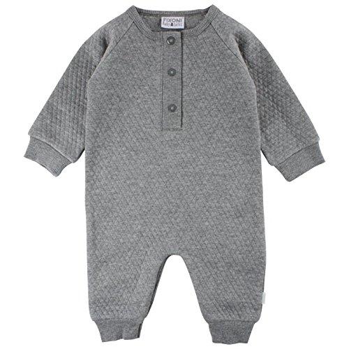 Fixoni Unisex Baby Spieler Ohne Fuss, Grau (Dark Grey Melange 01-92), 68
