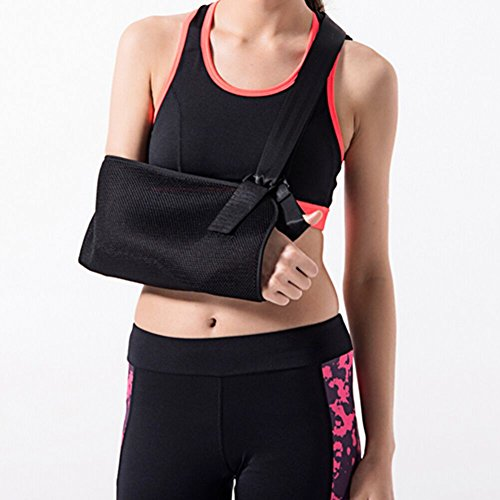 Xindinyi Arm Sling Shoulder Immobilizer Medical Sling Broken Arm Support with Adjustable Padded Straps, Maximum Comfort for Adult Lightweight Durable Arm Brace (M, 6.3