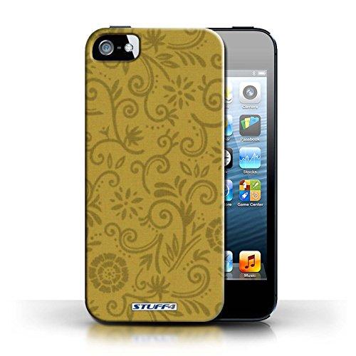 iCHOOSE Print Motif Coque de protection Case / Plastique manchon de telephone Coque pour Apple iPhone 5/5S / Collection Motif Remous floral / Fleur jaune